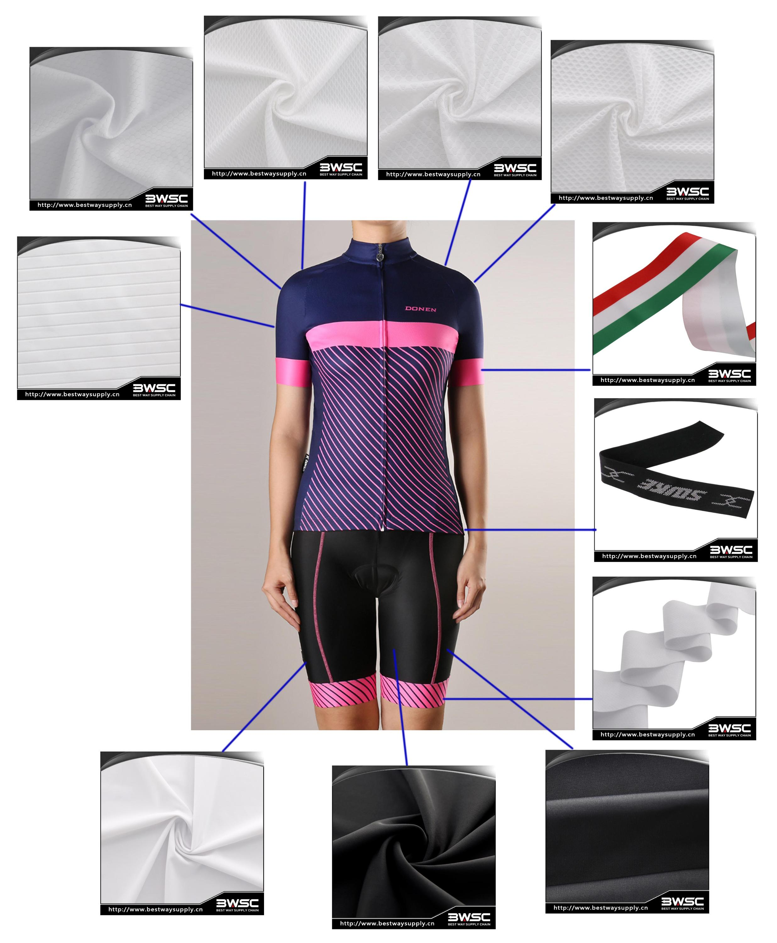 Black Color UV-Protection Polyamides Knitted for Bicycle clothing Cycling wear fabrics