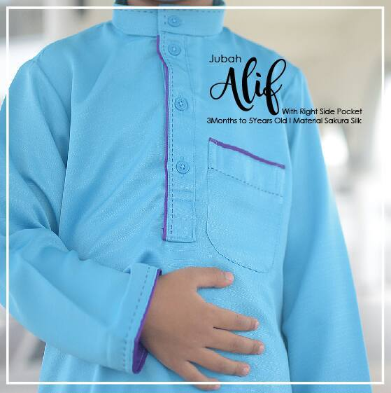PRE ORDER EID 2018 : SIMPLE & STYLISH MUSLIM MEN JUBAH FOR KIDS AND NEWBORN