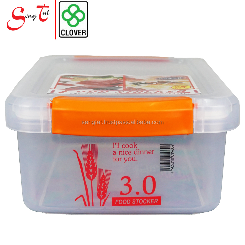 Nestable and Stackable Multipurpose Clover Plastic Food Container