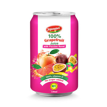330ml canned White fresh grapefruit Juice with Passion flavour FRUIT JUICE wholesales