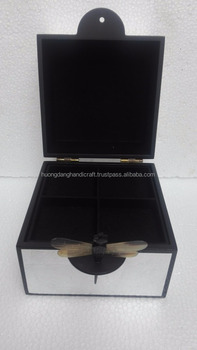 Silver color lacquered jewelry box from Hanoi