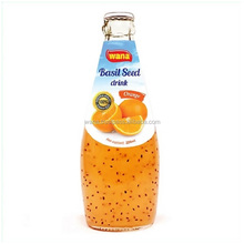 Sweet Basil Seed Drink With Orange Flavor Glass Bottle