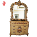 Cheap Price Antique Simple Design Wooden Carved Dressing Table with Drawers Bedroom Furniture