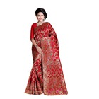 Sari en Surat Rouge Banarasi Art Silk Saree