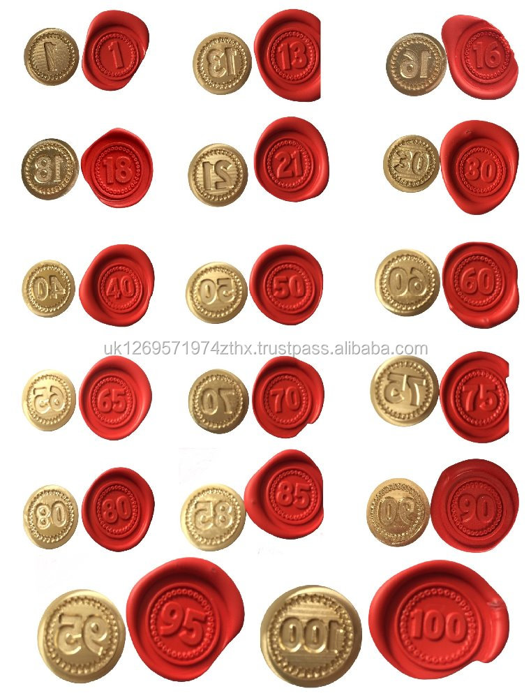 Brass Wax Seal Coins (To fit our Long Handled seal kits)