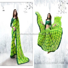 Stylish and Modern Fashion Designer Blouse and Superb Color Combination Embroidered Worked Printed Sarees