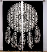 Indian 2017 Dream Catcher Mandala Curtains cotton Boho drapes Window Decor decor Curtain