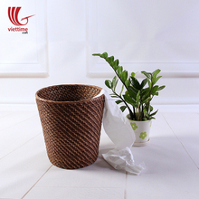 Handmade Rattan paper waste bin/ basket for home and office