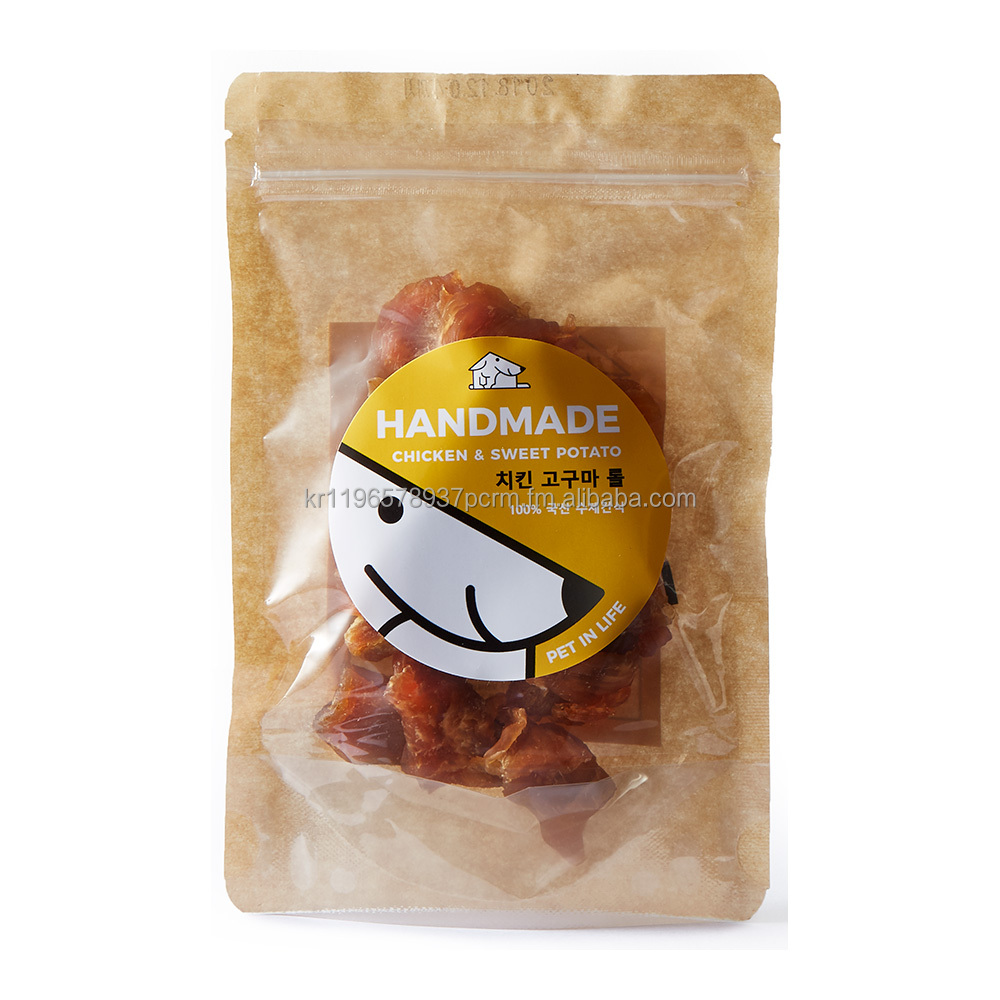 Pet in Life Chicken and Sweet Potato Roll Handmade Dog Treats 80g