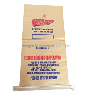 Big size bags with paper for packaging flour