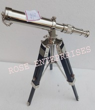 Nautical Vintage Brass Replica Design Tripod Telescope