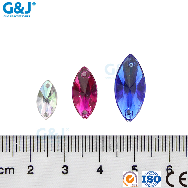 guojie brand wholesale Latest Design small for clothes decorative Grain shape acrylic stone