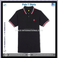 Mens Polo T shirts with Collar & Sleeve Stipes