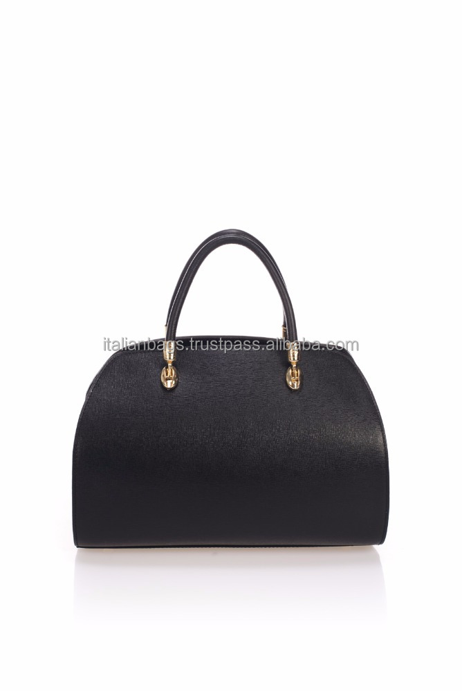 1110 Black Handmade genuine leather Italian top handle