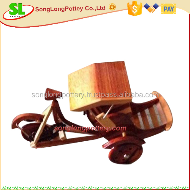 Handicraft Wholesale Art Minds Crafts Wooden Toys Cyclo Toy Mini