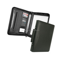 a3 executive presentation folders / expandable leather file folders bag / business custom folders with calculator holder