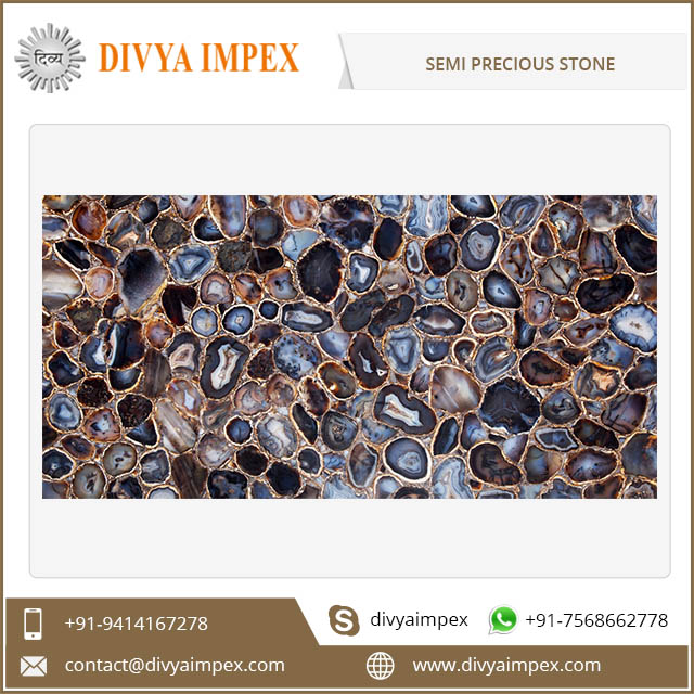 High Quality Polished Decorative Custom Semiprecious Stone