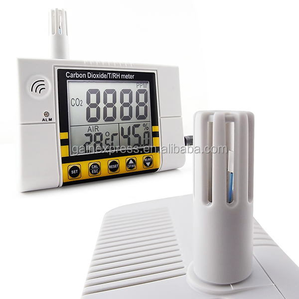 Wall Mount Indoor Air Quality Temperature RH Carbon Dioxide CO2 Monitor Sensor Detector Controller 0~2000ppm Range