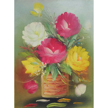 Home Decor Bali Wall Art Decoration Rose Flower Oil Painting On Canvas