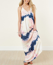 Stylish New Over Land And Sea Navy Multi Maxi Dress
