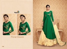 TRADITIONAL ETHNIC ANARKALI INDIAN PAKISTANI SUITS BRIDAL PARTY WEAR WHOLESALE EXPORT QUALITY BEST PRICE GREEN COLOUR