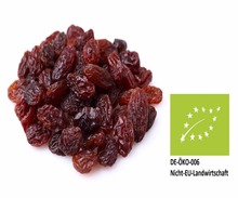 Organic Dried Grapes / Raisins - new crop 2017 - without any additives - from South Africa