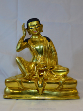 Guru MIlarepa or Mila-raspa exclusive quality gold statue