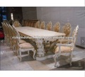 Luxury Design Minerva 12 Seater Wood Carving Dining Table Set Furniture