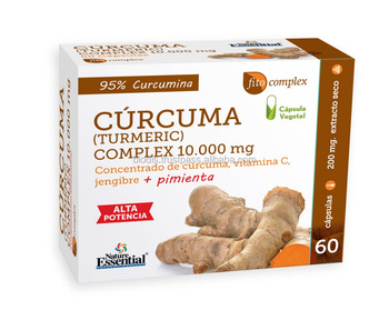 Curcuma 10.000 mg. Ginger+Pepper+Vit. C - 60 Vegetable Capsules - Food Supplement