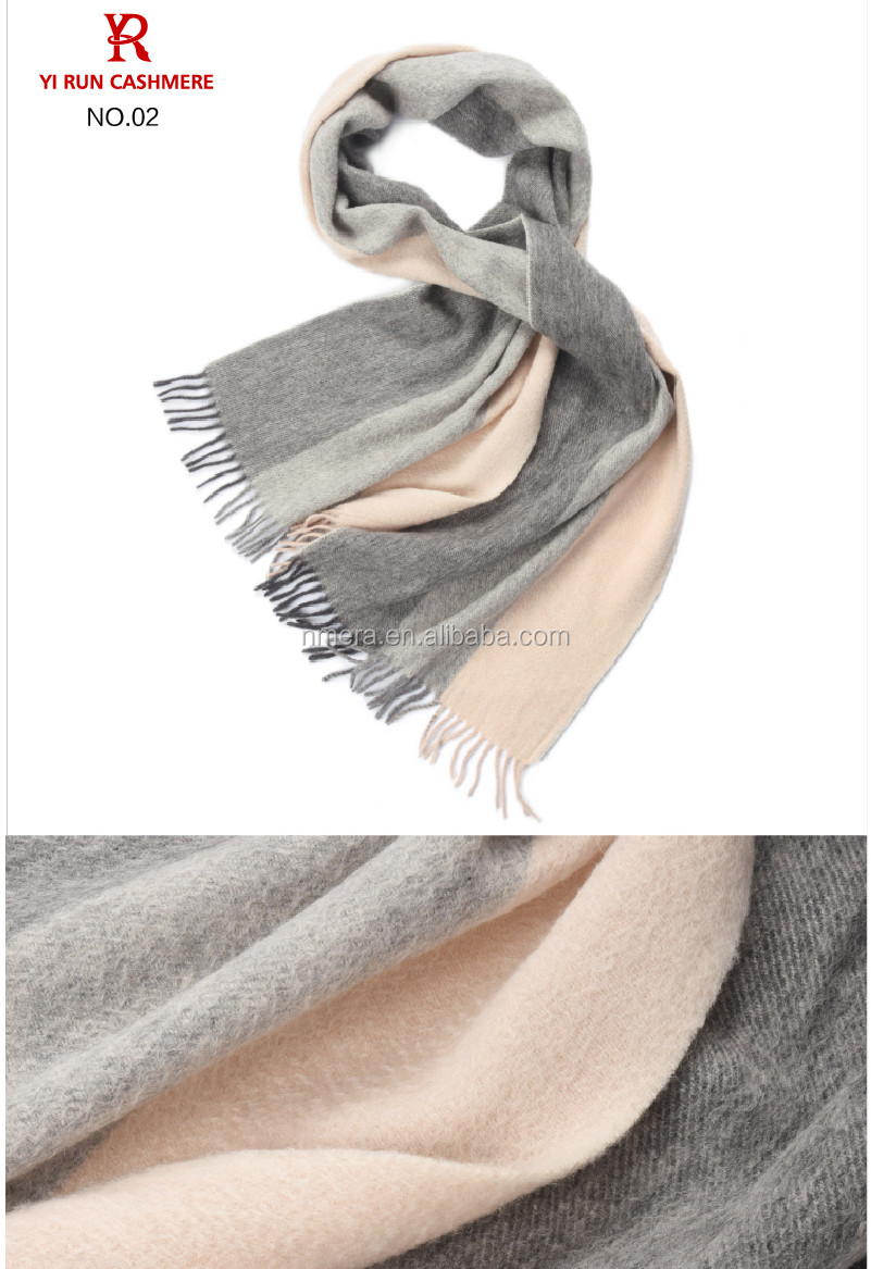 Inner Mongolia classical lattices pure wool warm winter fashion scarves