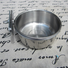 High Quality Stainless Steel Parrot Coop Cup / Bird Seed Food Feeder Bowl
