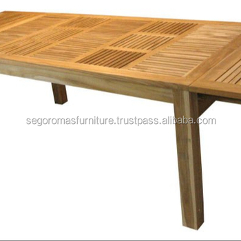 Teak Outdoor Furniture Lumense Extention Dining Table - by PT Segoro Mas Solo