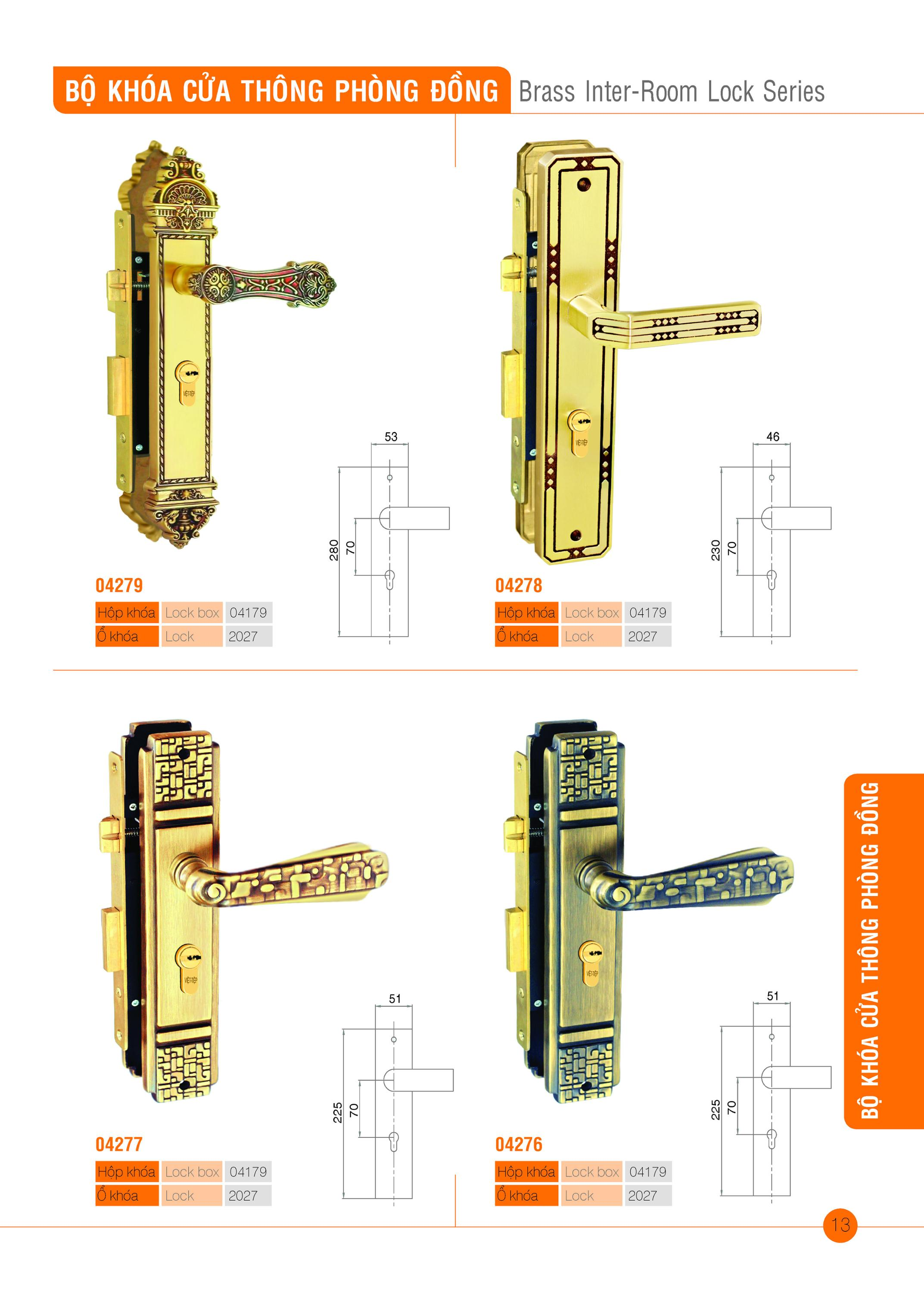 Brass Inter-room lock series