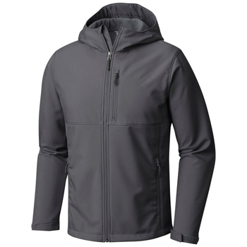 Top Quality Dark Gray Soft Shell Jacket Hoodie for Men 2019