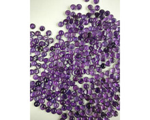 natural amethyst gemstone round shape 8mm smooth cabs cut loose stone