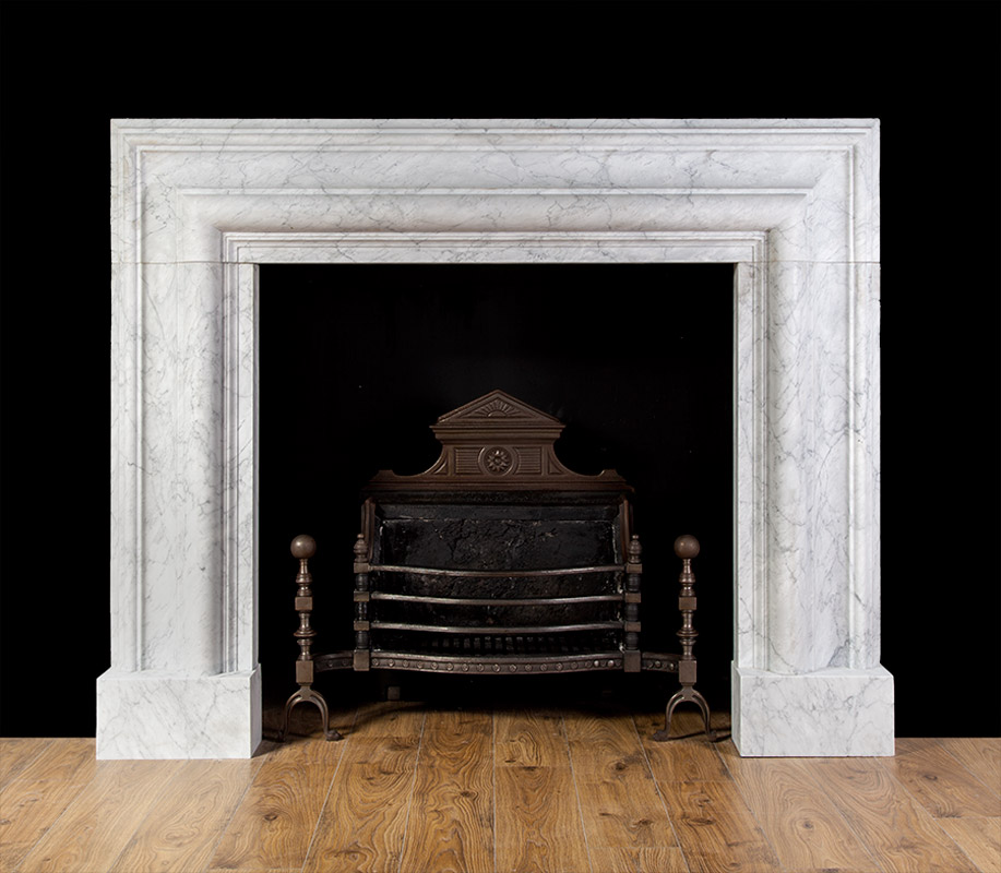 custom antique Fireplace Surround white carrara marble fireplace