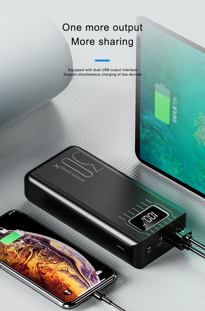 trending hot products 30000mAh Power Bank USB Type C Quick Charge 3.0 Powerbank 30000 mAh External Battery