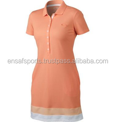 women clothing embroidered polo shorts sleeve ladies dresses,Golf Sports Polo Dress For Ladies,pique TC sport tennis polo dres
