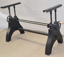 New Design Metal Industrial Vintage Crank Table Base