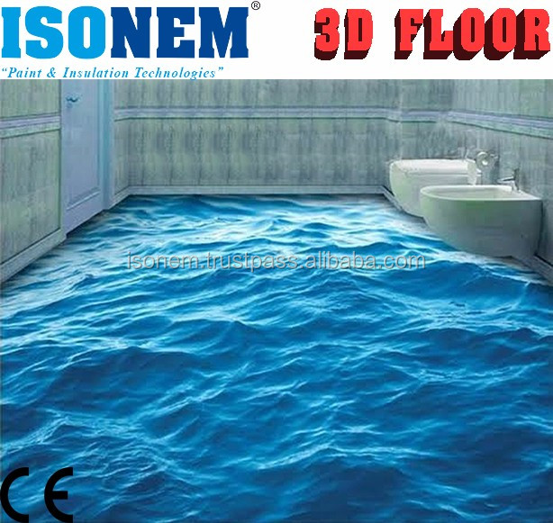 ISONEM 3D FLOOR (Epoxy Based Clear Top Coat Sealer for 3d Flooring)