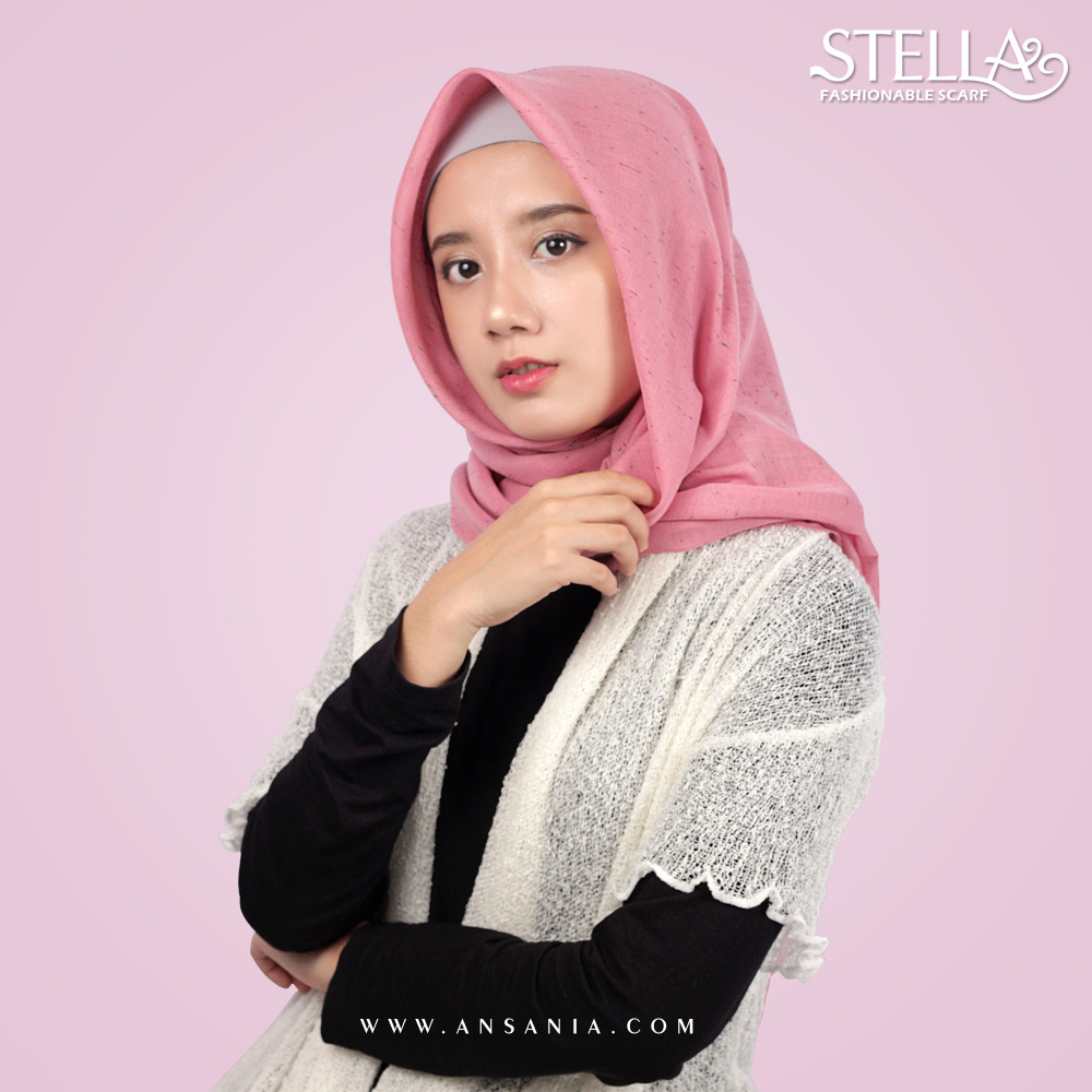 Plain Square Hijab With Texture Rainbow Inject Wholesale 110x110Cm Ansania Stella