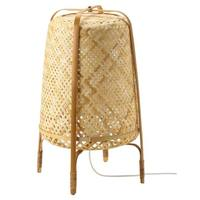 Nordic style woven bamboo floor lamp with leg