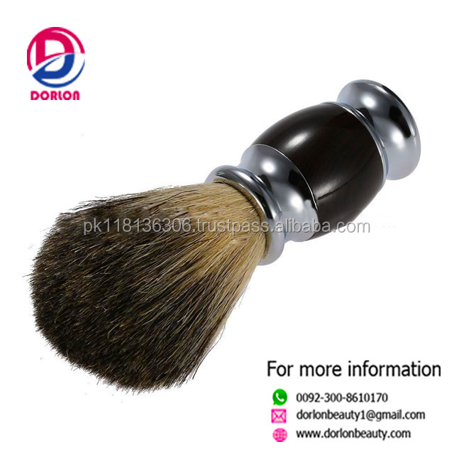 Cosmetic Products Silver tip Badger Hair Shaving Brush Beard Brush for Man With Black Handle