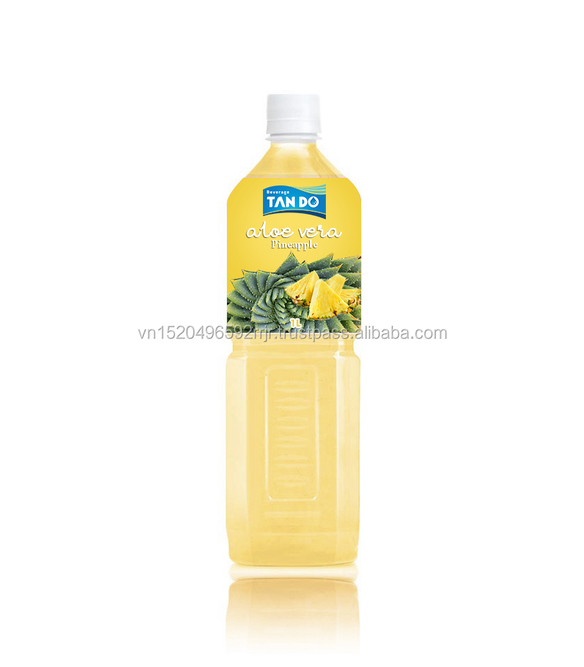 Vietnam origin adding Pineapple 500ml Aloe vera drink