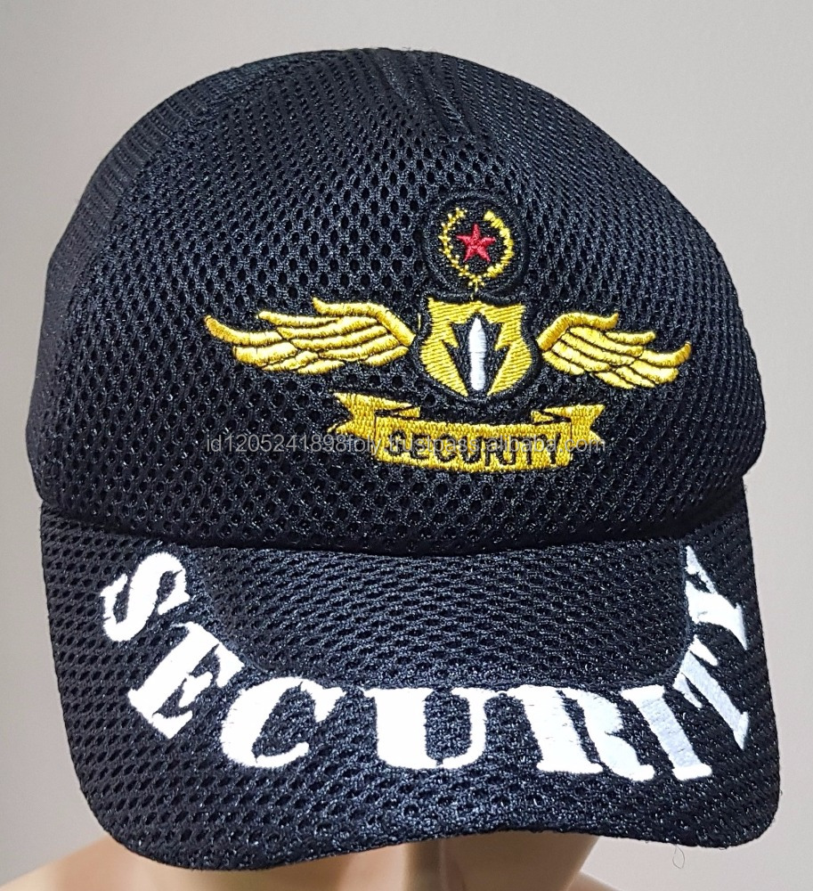 OEM High Quality Cap for Security Staff With Good Material Made In Indonesia