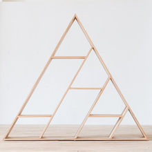 Triangle Illuminati Modern Bookcase With Solid Wood Material