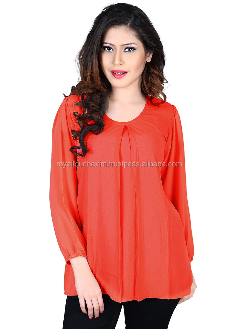 new fashion girls tops fancy ladies party wear latest design