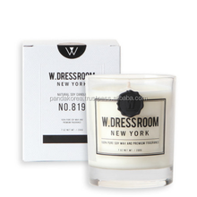W.DRESSROOM Scented Natural Soywax Candle No.819 White&Black 200g Home Decoration