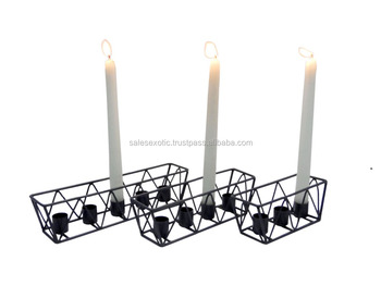 Modern metal wire Candle holder
