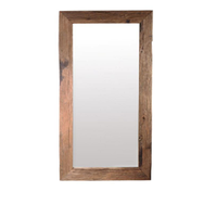 Wholesale Modern unique hot selling Wood Photo Frame Mirror Wall Mirror Wooden and Stainless Steel Frame Mirror for bed room